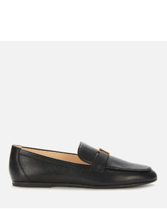 Women's Gomma Leather Loafers - Black