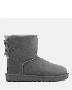 Women's Mini Bailey Bow II Sheepskin Boots - Grey