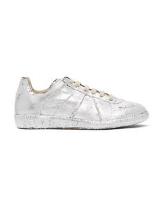 银色Replica涂绘运动鞋