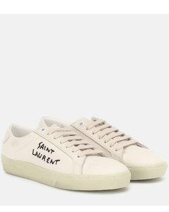 Court Classic刺绣运动鞋