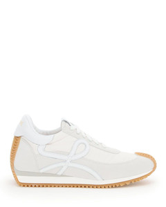 FLOW SNEAKERS IN LEATHER AND NYLON
