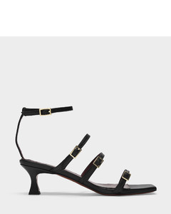 Naomi Sandals In Black Leather