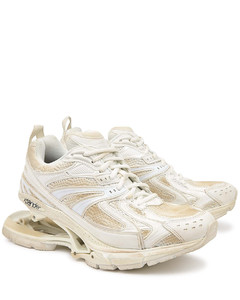 X-Pander white panelled sneakers