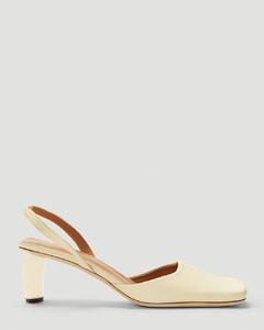 Luna Slingback Heeled Sandals in White