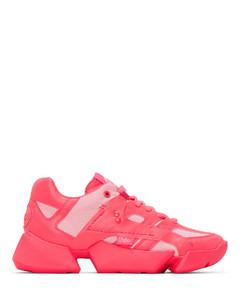 粉色Buffalo London联名合成皮革运动鞋