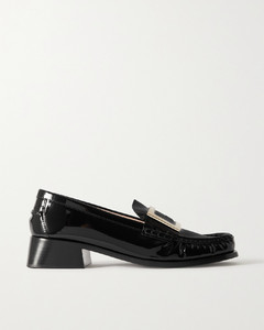 Preppy Viv Embellished Patent-leather Loafers