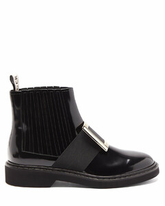 Rangers buckled patent-leather Chelsea boots