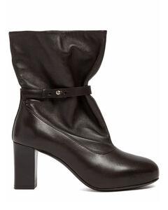 Panelled Block-Heel Booties