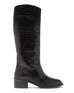 Petra 45 crocodile-effect leather boots