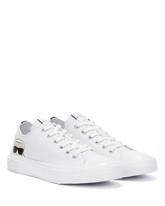 Oversize smooth leather sneakers