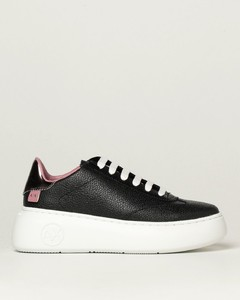 sneakers in textured leather