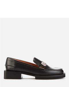 Women's Jewel Leather Loafers - Black