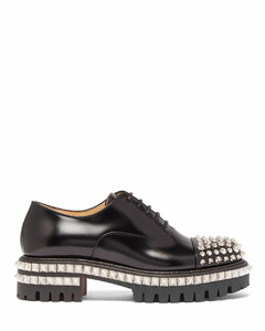 Kings Road studded leather oxford shoes