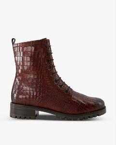 Bulldozer platform leather boots