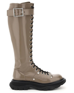 LACE-UP BOOTS WITH STITCHING