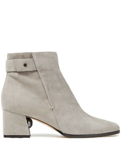 Woman Embellished Suede Ankle Boots