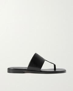 Paula's Ibiza Logo-debossed Leather Sandals