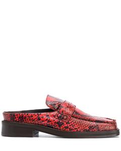 Arches仿蛇皮纹穆勒鞋