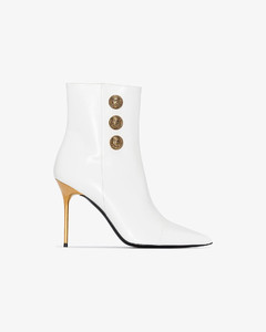 white Roni 95 buttoned leather ankle boots