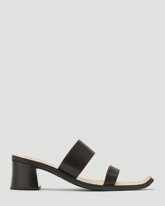 Strappy Blocked Heel Sandals in Black