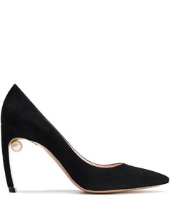 Woman Mira 90 Faux Pearl-embellished Suede Pumps