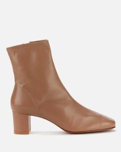 Women's Sofia Leather Heeled Boots - Nude