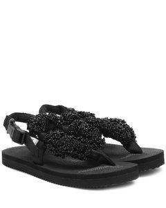 x Suicoke Kat缀饰凉鞋