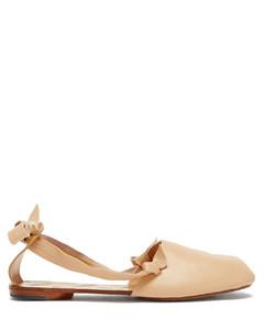 Tabi slingback leather ballet flats