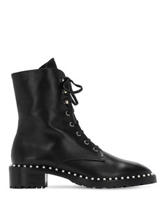25mm Allie Leather Combat Boots