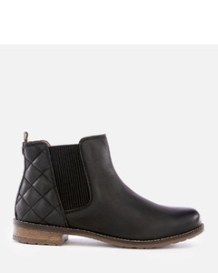 Women's Abigail Leather Quilted Chelsea Boots - Black