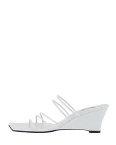 黑色Ada绒面革高筒靴