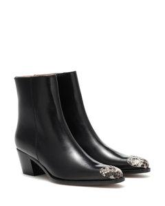 Milanese皮革及踝靴