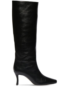75mm Stevie Creased Leather Tall Boots