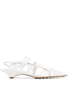 White BV Point 30 leather sandals