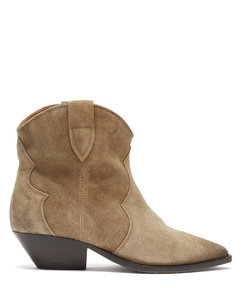 Dewina suede Western ankle boots