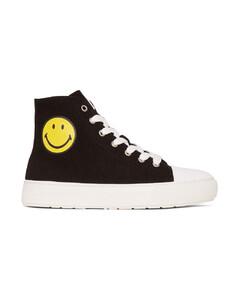 黑色Smiley聯名高幫運動鞋