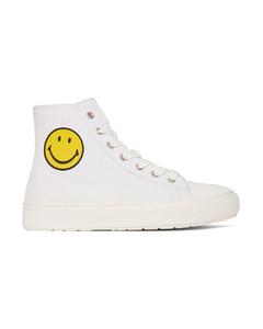 白色Smiley聯名高幫運動鞋