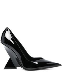 Ezbc353001 Women's White/black Leather Sandals