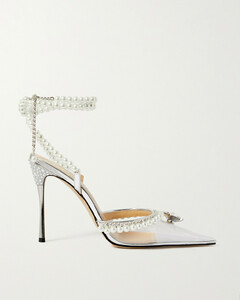 Diamond Of Elizabeth Embellished Pvc And Patent-leather Sandals