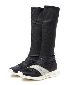 Oblique Runner draped sock boots
