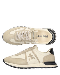 Women's V Lock Leather Trainers - Extra White/Black