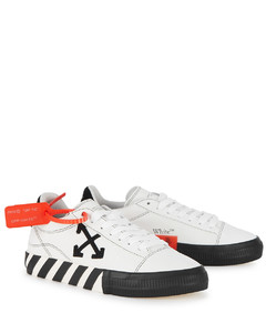 Low Vulcanized white suede sneakers