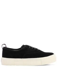 Mother Platform Suede Sneakers
