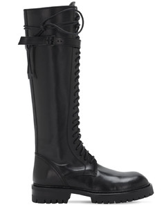 30mm Tall Leather Boots