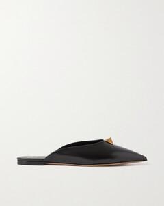 Garavani Upstud Leather Point-toe Flats