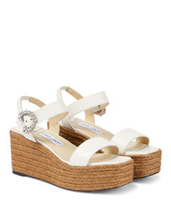 GLOVE leather platform ankle boots