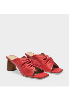 Naomi Mules In Red Leather