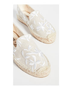 Shiloh刺绣编织底帆布鞋