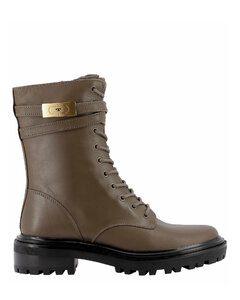 Buckle-Detailed Combat Boots