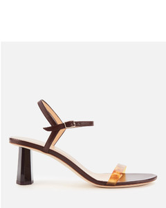 Women's Magnolia Leather Barely There Heeled Sandals - Bordeaux